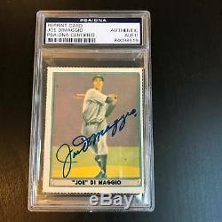 1941 Play Ball Joe Dimaggio Signed Autographed RP Baseball Card PSA DNA COA
