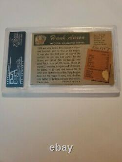 1955 Bowman Hank Aaron Autograph Card #179. Psa/dna Certified Auto