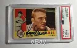 1960 Roger Maris Autographed Card Topps #377 PSA / DNA Certified Autograph 9