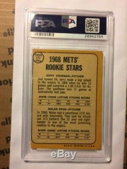 1968 Topps Nolan Ryan #177 Mets Rookies Autographed Signed PSA DNA 10 GEM AUTO