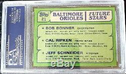 1982 TOPPS #21 CAL RIPKEN ROOKIE RC PSA/DNA SIGNED AUTO Beautiful rare
