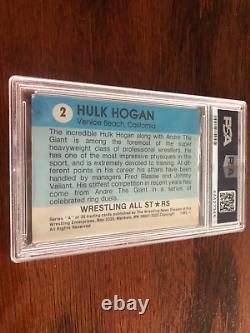 1982 Wrestling Allstars SIGNED HULK HOGAN Rookie Autograph #2 PSA 4 PSA DNA AUTO