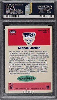 1986 Fleer Sticker Michael Jordan ROOKIE PSA/DNA 9 AUTO #8 PSA 8 NM-MT (PWCC-A)