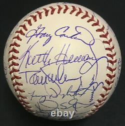 1986 Mets signed Official World Series baseball 35 auto Gary Carter PSA/DNA LOA