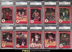 1986 Star Basketball Michael Jordan RC'86 AUTO SET, ALL PSA/DNA