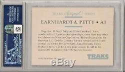 1992 Traks Dale Earnhardt Richard Petty Auto #a1 Psa Dna Authentic