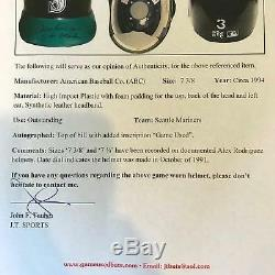1994 Ken Griffey Jr. Signed Inscribed Game Used Seattle Mariners Hat PSA DNA BAS
