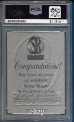 1996-97 Score Board Kobe Bryant Auto / Autograph PSA / DNA GEM MT 10