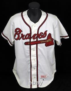 1996 John Smoltz Signed Game Used Atlanta Braves Home Jersey PSA DNA Miedema LOA