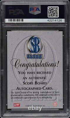 1996 Score Board Red Kobe Bryant ROOKIE RC PSA/DNA AUTO /390 PSA 10 GEM MINT