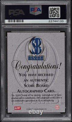 1996 Score Board Red Kobe Bryant ROOKIE RC, PSA/DNA Auth AUTO /390 PSA 10 GEM MT