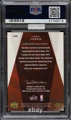 2003 SP Authentic Limited LeBron James ROOKIE RC PSA/DNA 10 AUTO /50 PSA 10 MBA