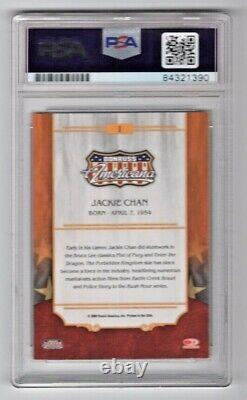 2009 Donruss Americana Jackie Chan Signed Auto Rookie RC Card #1 PSA/DNA