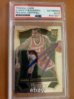 2013 Select Basketball Giannis Antetokounmpo ROOKIE PSA/DNA AUTO 178 HAND SIGNED
