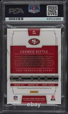 2017 National Treasures Gold George Kittle ROOKIE RC PSA/DNA AUTO /49 PSA 8.5