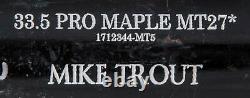 2018 Mike Trout Game Used & Signed Old Hickory MT27 Model Bat PSA DNA GU 9.5