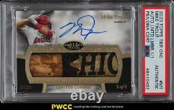 2020 Topps Tier One Limited Lumber Mike Trout PATCH PSA/DNA AUTO 1/1 PSA Auth