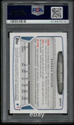 AARON JUDGE AUTO 2013 Bowman Draft Picks BDPP19 PSA/DNA Certified Rookie Card RC