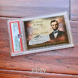 ABRAHAM LINCOLN PSA/DNA Slabbed Early Autograph Cut Signature Signed