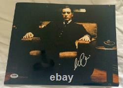 Al Pacino The Godfather Signed 11x14 Metaliic Photo Authentic Auto PSA DNA ITP
