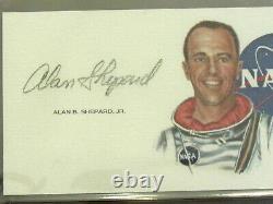 Alan Shepard Apollo 14 Nasa Astronaut Signed Auto Vintage Nasa Art Cut Psa/dna