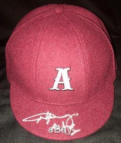 Angus Young Autographed Signed Ac/dc School Boy Psa/dna Hat