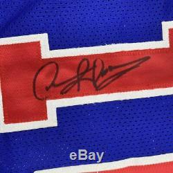 Autographed/Signed DENNIS RODMAN Detroit Blue Basketball Jersey PSA/DNA COA Auto