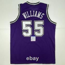 Autographed/Signed JASON WILLIAMS Sacramento Purple Jersey PSA/DNA COA Auto