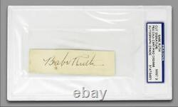 Babe Ruth Signed Cut Beautiful Psa/dna Autographed Mint 9 Amazing