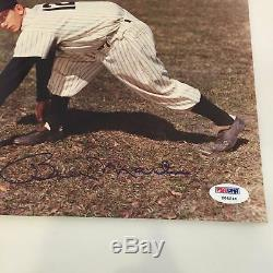 Billy Martin Signed Autographed New York Yankees 8x10 Photo PSA DNA COA