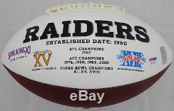 Bo Jackson Autographed Signed White Logo Football Oakland Raiders Psa/dna 72370