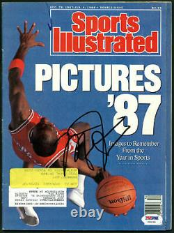 Bulls Michael Jordan Authentic Signed 1987 Sports Illustrated PSA/DNA #Z04244
