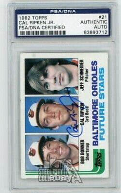 Cal Ripken Jr 1982 Topps Baseball Future Stars Autograph Rookie Card #21 PSA/DNA