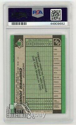 Chipper Jones 1991 Bowman Autographed Rookie RC Card PSA/DNA COA