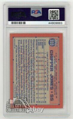 Chipper Jones 1991 Topps Autographed Rookie RC Card PSA/DNA COA