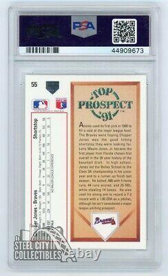 Chipper Jones 1991 Upper Deck Autographed Rookie RC Card PSA/DNA COA