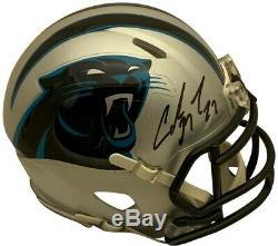 Christian McCaffrey Autographed Carolina Panthers Football Mini Helmet PSA DNA