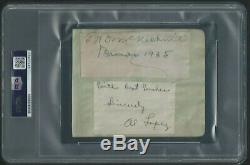 Cy Young Signed & Graded 8/10 Autographed Cut Psa/dna Certified Authentic Hof
