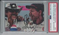 Dale Earnhardt Richard Petty Psa/dna Dual Signed 1992 Traks Card #a1 Autographed