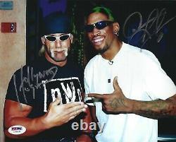 Dennis Rodman & Hulk Hogan Signed NWO 8x10 Photo PSA/DNA COA WWE WCW Autograph