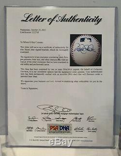 Derek Jeter Autographed Signed Official MLB Baseball PSA DNA Full Letter COA