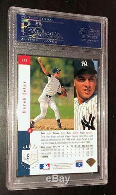 Derek Jeter Signed 1993 Sp Rookie Card New York Yankees Psa/dna Gem Mint 10 Auto