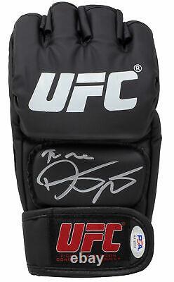 Dustin The Diamond Poirier Signed Black UFC Glove PSA/DNA