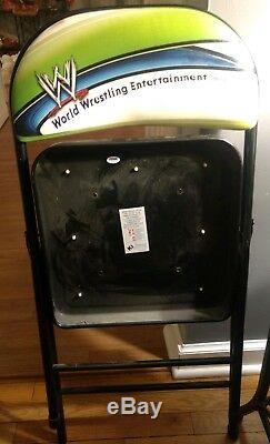 Eddie Guerrero Signed 2004 WWE SummerSlam Chair Wrestlemania WWF PSA/DNA RARE