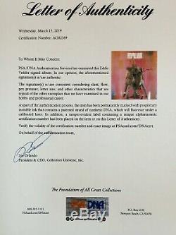 Eddie Vedder Signed Ten Pearl Jam Vinyl LP PSA/DNA COA