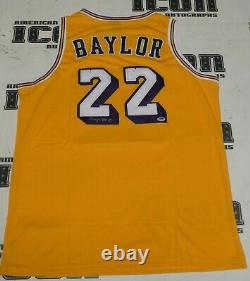 Elgin Baylor Signed Los Angeles Lakers Basketball Jersey PSA/DNA COA Autograph