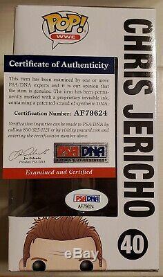 Funko Pop Wwe Chris Jericho Signed Autographed Y2j Vinyl Figure Psa/dna