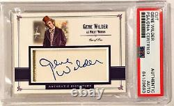 Gene Wilder WILLY WONKA CHOCOLATE FACTORY Signed Custom Auto CARD 1/1 PSA/DNA