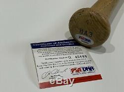 Hank Aaron 755 Braves Signed Autograph Louisville Slugger Bat PSA DNA