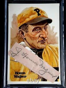 Honus Wagner Signed Cut Autograph Perez Steele Postcard Psa/dna Certified Auto